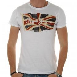 Tee Shirt Pepe Jean M55594 Flyer Blanc