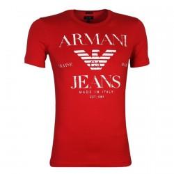 Tee Shirt Emporio Armani U6H22 Rouge