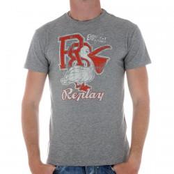 Tee Shirt Replay M3745 Gris