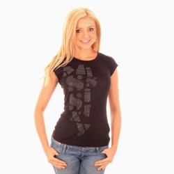 Tee Shirt Miss Sixty Foster Silver Noir