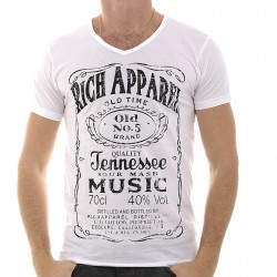 Tee Shirt Rich Apparel Jennesse Blanc