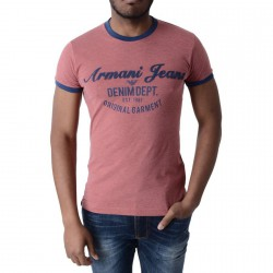 Tee Shirt Armani Jeans T6H28 Rouge