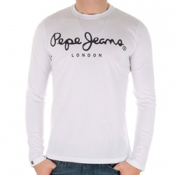 Tee Shirt Pepe Jeans M55916 Blanc/Noir