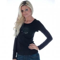 Tee Shirt Pepe Jeans L55649 Blume Noir