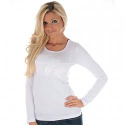 Tee Shirt Pepe Jeans L55649 Blume Blanc