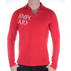 Polo Col V Emporio Armani Rouge