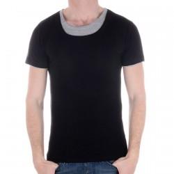 Tee Shirt Eleven Paris Basic Double Round SS Noir