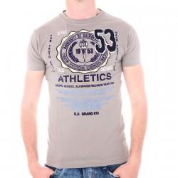 Tee Shirt Gangster Unit Kingdom Grey