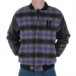 Blouson Unkut Teddy Bucheron Black/Purple