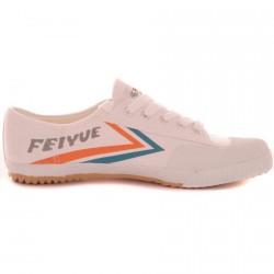 Chaussure Feiyue Blanc/Orange/Bleu