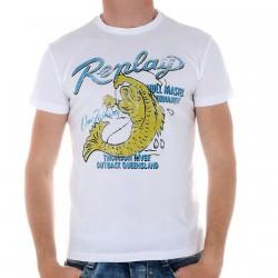 Tee Shirt Replay M3663 Blanc