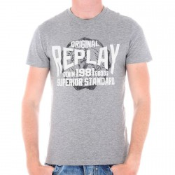 Tee Shirt Replay M3742 Gris
