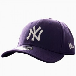 Casquette New Era League Basic NY Violet/Blanc