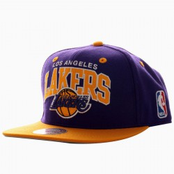 Casquette Mitchell and Ness Lakers Violet/Jaune