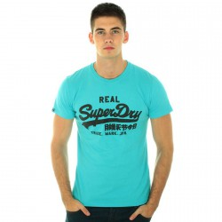 Tee Shirt Superdry MS1CA18-26Y Turquoise
