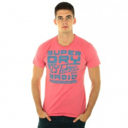 Tee Shirt Superdry MS1CA49-13R Rose/Bleu