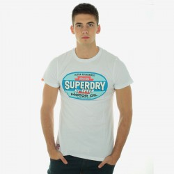 Tee Shirt Superdry MS1C58-01C Blanc