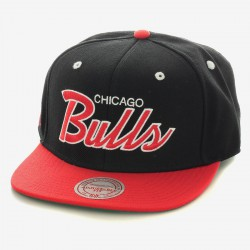 Casquette Mitchell And Ness Bulls 2T Script