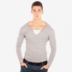 Tee Shirt Manche Longue Cent's Gris 810