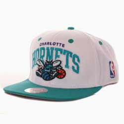 Casquette Mitchell And Ness Hornets MTC 2 Tone Blanche