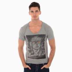 Tee Shirt Seven Tees Keith Gris