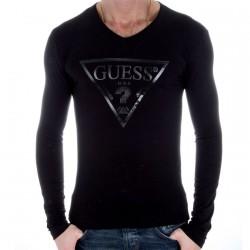 T Shirt manche longue Guess M93461 Noir