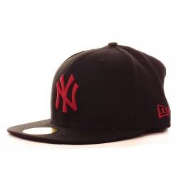 Casquette New Era Cap NY Basic Noir/Rouge