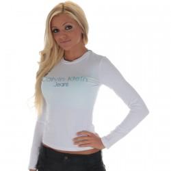 Tee Shirt Calvin Klein CWP43C Blanc
