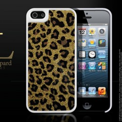 Coque iPhone 5 Disco Leopard Case-Or