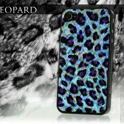 Coque iPhone 4 Silver Leopard-Violet